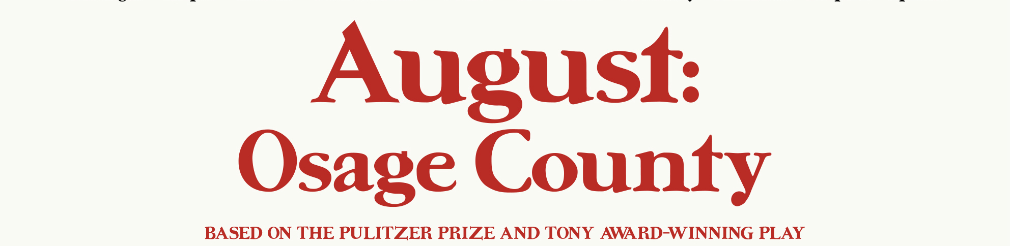 Recension August Osage County GGGG (inkl video)